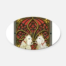 Celtic Scott 2 Wheaten Feb.png Oval Car Magnet