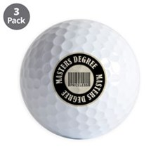 Masters Degree Priceless Bar Code Golf Ball