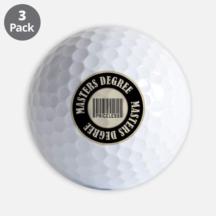 Masters Degree Priceless Bar Code Golf Ball