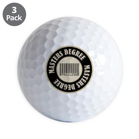 Masters Degree Priceless Bar Code Golf Balls