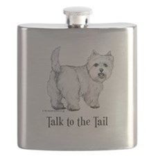 Westie Talk to the Tail Flask