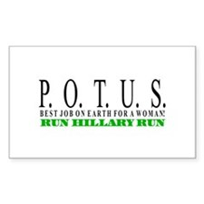 P.O.T.U.S. Rectangle Decal