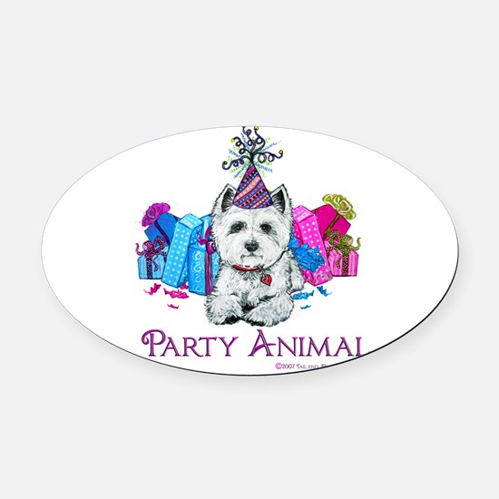 Party Animal finished 2007.png Oval Car Magnet