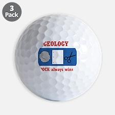 Rock Always Wins Golf Ball