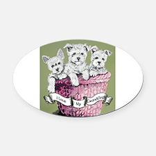 Grandogs puppy basket cut out 8x8.jpg Oval Car Mag