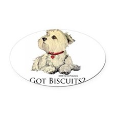 Biscuits6x6 2.png Oval Car Magnet