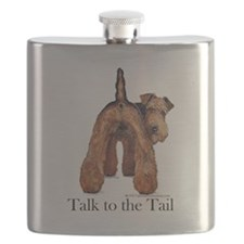 Airedale Terrier Talk Flask