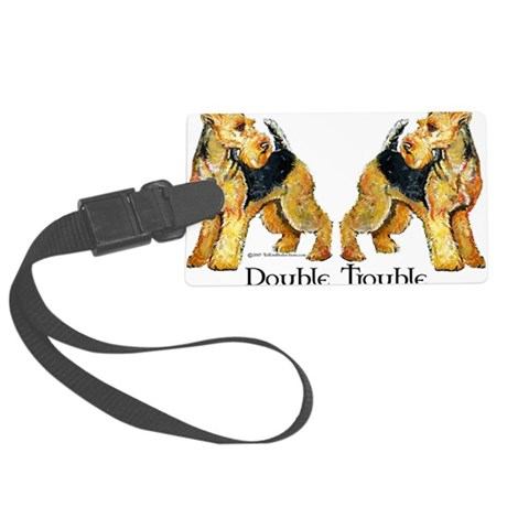 Double Trouble.png Large Luggage Tag