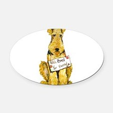 Airedale Lakeland Welsh Terrier Oval Car Magnet