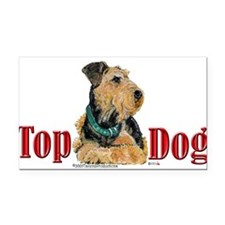 Top Dog AIREDALE13x6.png Rectangle Car Magnet