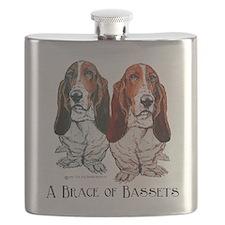 A Brace of Bassets twosome.psd Flask