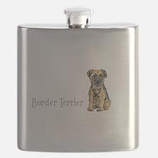 Border Terrier white mug.png Flask