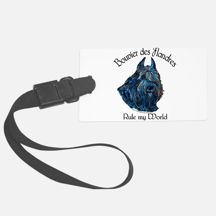Bouvier des Flandres Rule Luggage Tag
