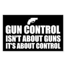 Gun Control 1 Decal