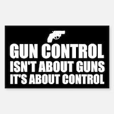 Gun Control 1 Sticker (Rectangle)
