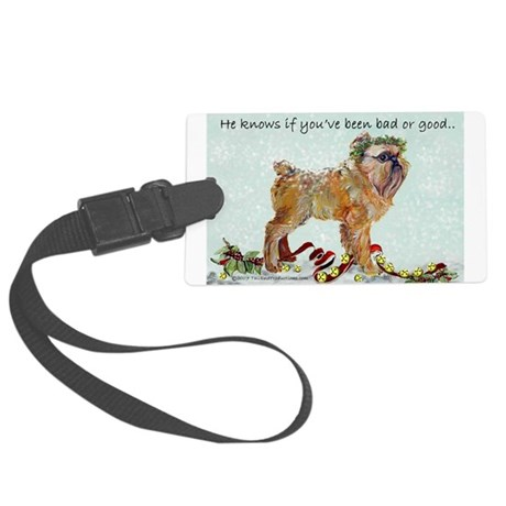 He knows 10x10.png Large Luggage Tag
