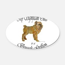 My Significant Other is.png Oval Car Magnet