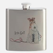 Fox Terrier Walk Flask