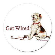 1 get wired.png Round Car Magnet
