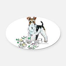Good Dog.png 12x12.png Oval Car Magnet
