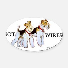 Got Wires.png Oval Car Magnet