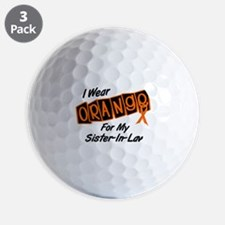 I Wear Orange For My Sister-In-Law 8 Golf Ball