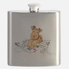 Welsh Terrier World Flask