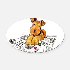 Welsh Terrier World Oval Car Magnet