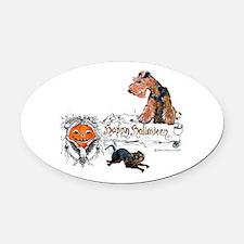 Welsh Terrier Halloween Oval Car Magnet