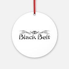 Martial Arts Black Belt Ornament (Round)