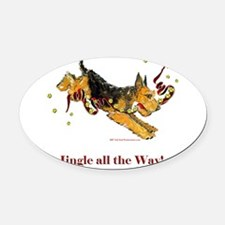 Jingle all the way 2007.png Oval Car Magnet