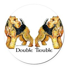 Double Trouble.png Round Car Magnet