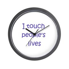 Touch Lives Wall Clock