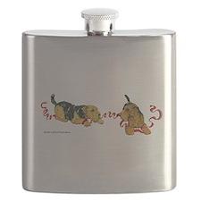 Cute Irish terrier Flask