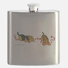 Cute Lakeland terrier Flask