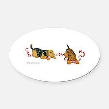 Cute Lakeland terrier Oval Car Magnet