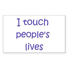 Touch Lives Rectangle Decal