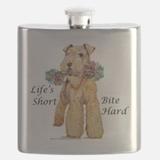 airedale10x10 bite hard - flat.png Flask