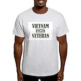 Vietnam veteran Mens Light T-shirts