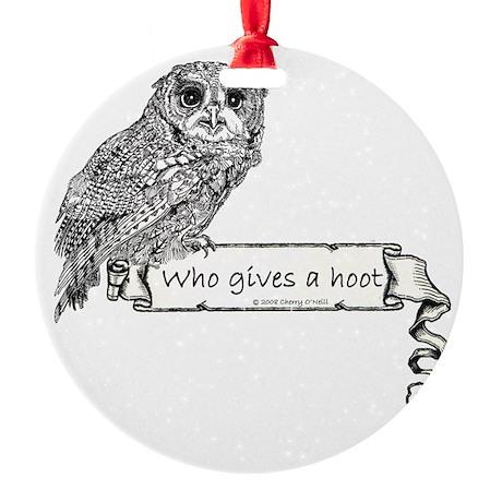 Hoot Owl Round Ornament