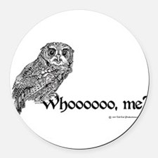Who Owl Round Car Magnet