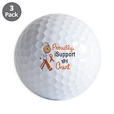 iSupport My Aunt SFT Orange Golf Ball