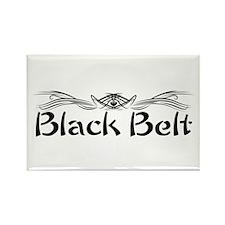 Martial Arts Black Belt Rectangle Magnet
