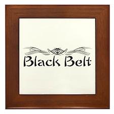Martial Arts Black Belt Framed Tile