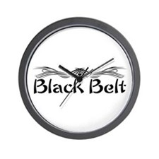 Martial Arts Black Belt Wall Clock
