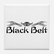 Martial Arts Black Belt Tile Coaster