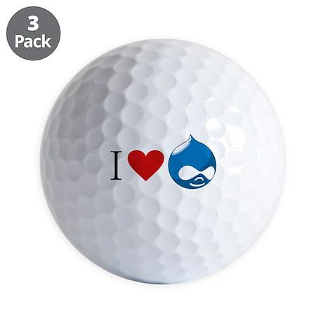 I Heart Drupal Golf Balls