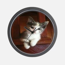 Tabby The Adorable Kitten Wall Clock