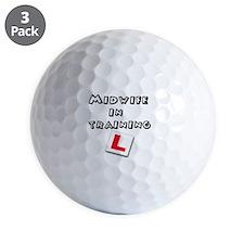 Cute Midwife Golf Ball