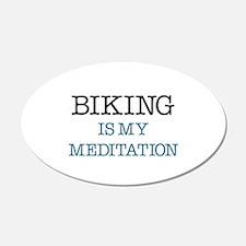 Biking is my Meditation Wall Decal